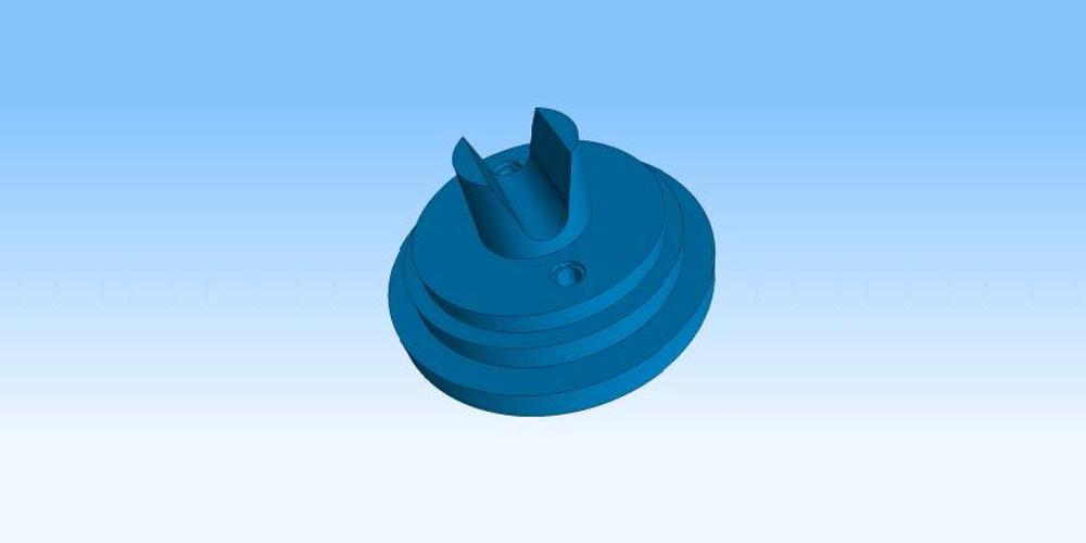 Model CAD części poddanej korekcji